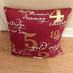 12 Days of Christmas throw pillow.
